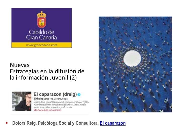 Nuevas  Estrategias en la difusión de  la información Juvenil (2) Dolors Reig, Psicóloga Social y Consultora, El caparazon