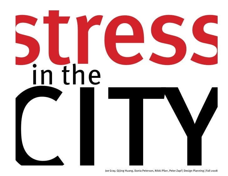 stress city in the            Joe Gray, Qijing Huang, Dania Peterson, Nikki Pfarr, Peter Zapf | Design Planning | Fall 2008