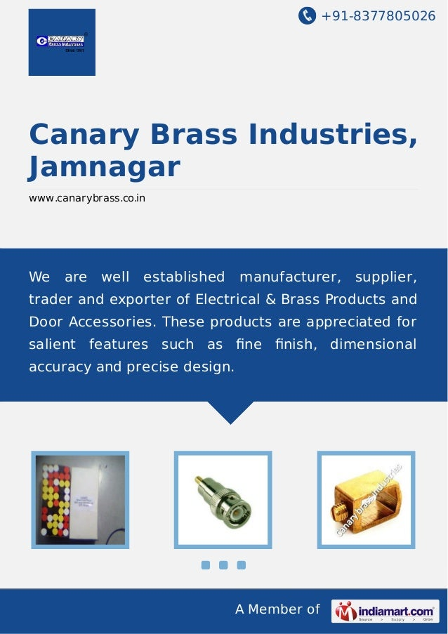 Canary Brass Industries, Jamnagar, Electrical Products