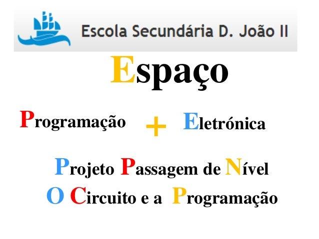 Programação Eletrónica+ Espaço Projeto Passagem de Nível O Circuito e a Programação