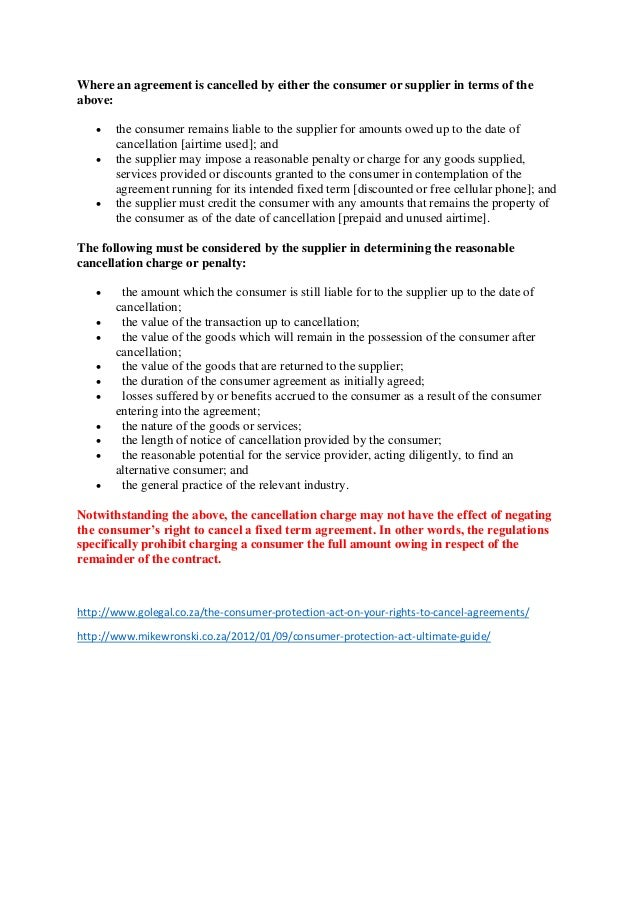 consumer protection act south africa pdf