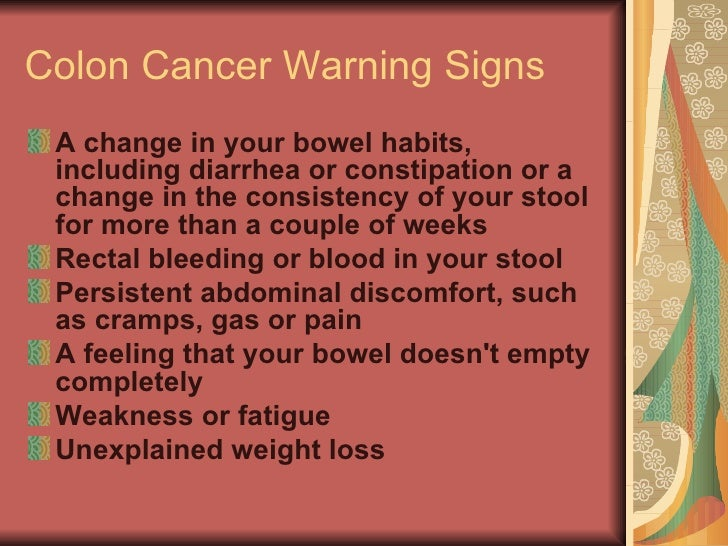 Cancer Warning Signs