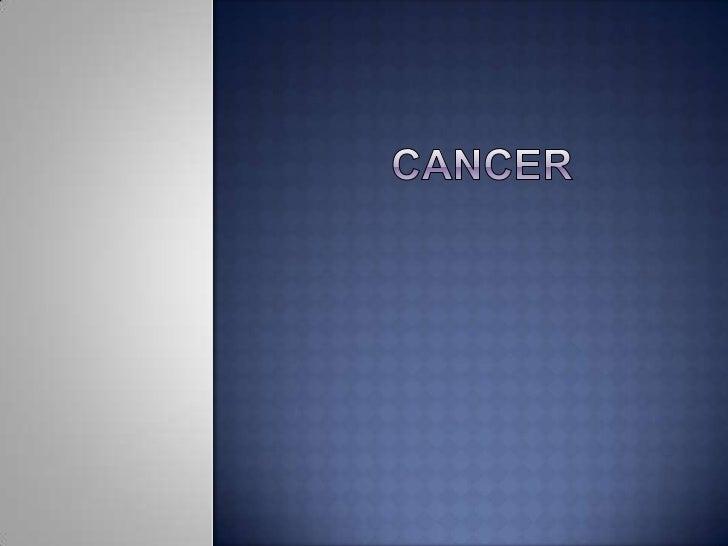 cancer<br />