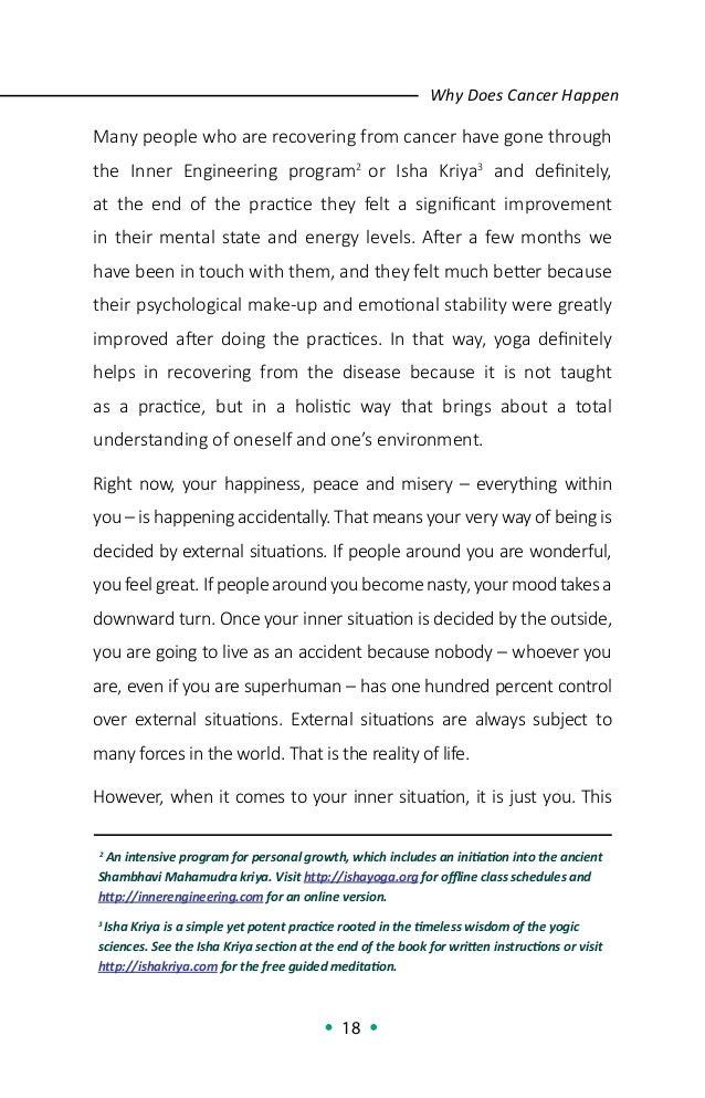 Sadhguru on Cancer - A Yogic Perspective