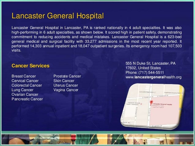 Cancer Hospitals In Pa