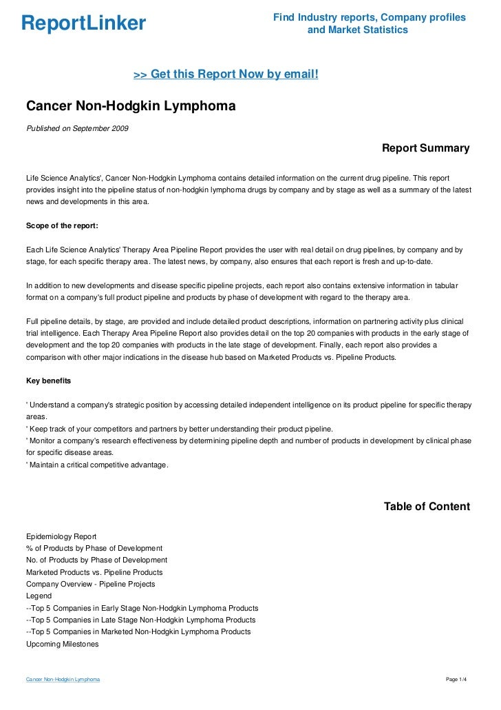 a report on lymphoma Report a perceived breach or questionable practices  report of lymphoma associated with breast implants related information pip silicone gel breast implants 19 may 2014  announced.
