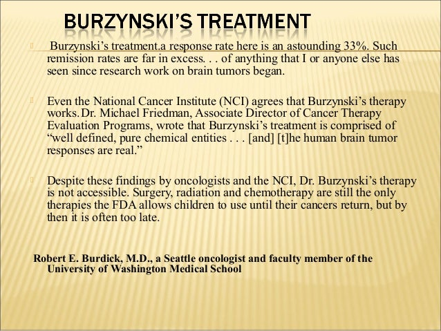 Burzynski prostate cancer cure