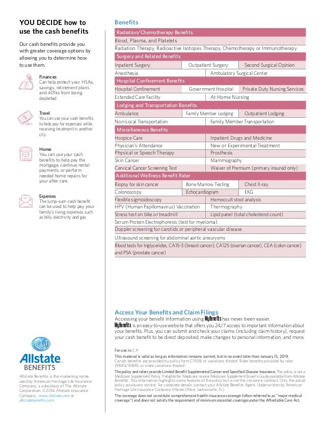 Cancer Insurance from Allstate Benefits