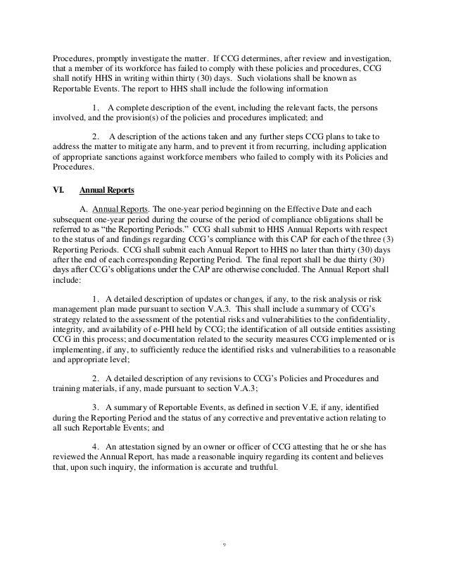 Cancer Care Group Hipaa Settlement Agreement