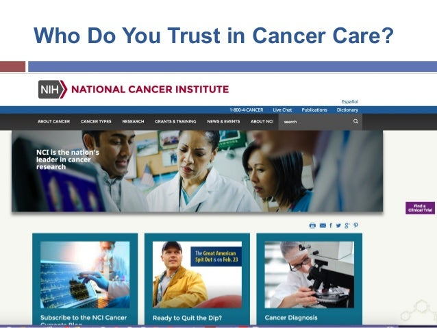 Cancer Care in a Post Truth World  Slide 3