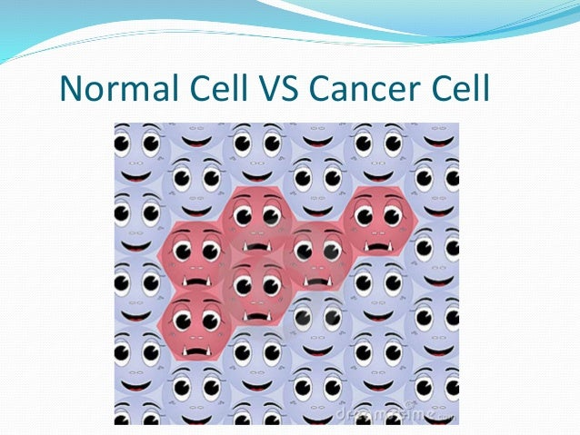 Normal cells and cancer cells pictures