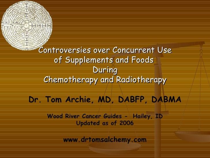 <ul><li>Controversies over Concurrent Use </li></ul><ul><li>of Supplements and Foods  </li></ul><ul><li>During </li></ul><...