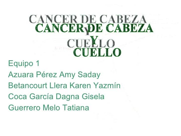 <ul><li>Equipo 1 </li></ul><ul><li>Azuara Pérez Amy Saday </li></ul><ul><li>Betancourt Llera Karen Yazmín </li></ul><ul><l...