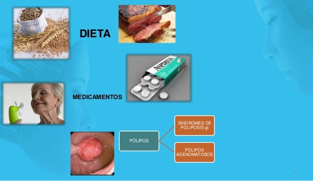 DIETA 4 MEDICAMENTOS PÓLIPOS SINDROMES DE POLIPOSIS gi PÓLIPOS ADENOMATOSOS