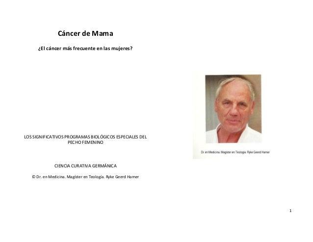 Cancer De Mama Libro Dr Hamer 1 Ed