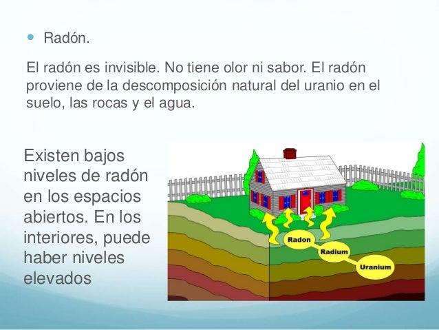  El radón puede entrar en las casas y los edificios a través de grietas en los pisos, las paredes o los cimientos puede e...