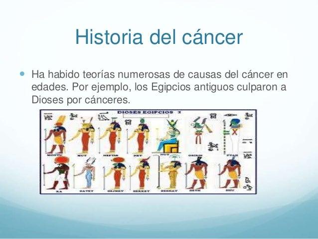  Ha habido teorías numerosas de causas del cáncer en edades. Por ejemplo, los Egipcios antiguos culparon a Dioses por cán...