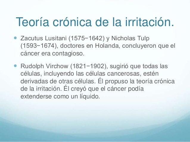  Zacutus Lusitani (1575−1642) y Nicholas Tulp (1593−1674), doctores en Holanda, concluyeron que el cáncer era contagioso....