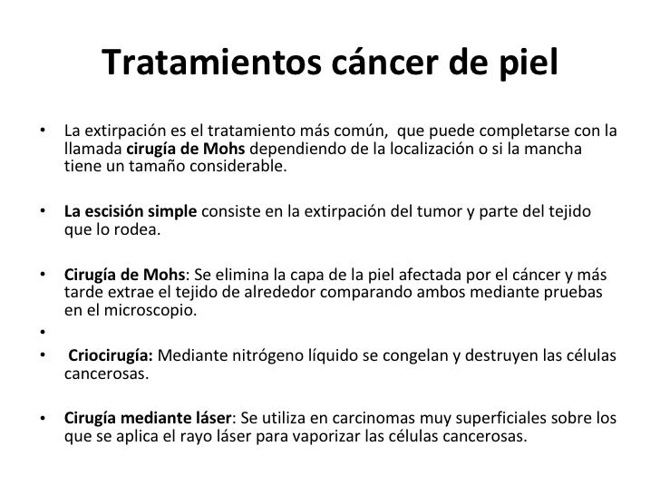 Cancer de piel - Tratamiento para carcoma ...