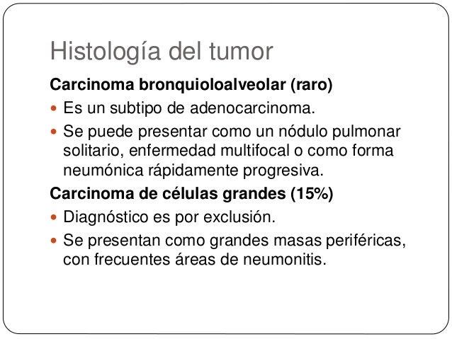 Síntomas y signos derivados de la afectación loco-regional  Tos es la manifestación más frec. tumor vías aéreas grandes ...