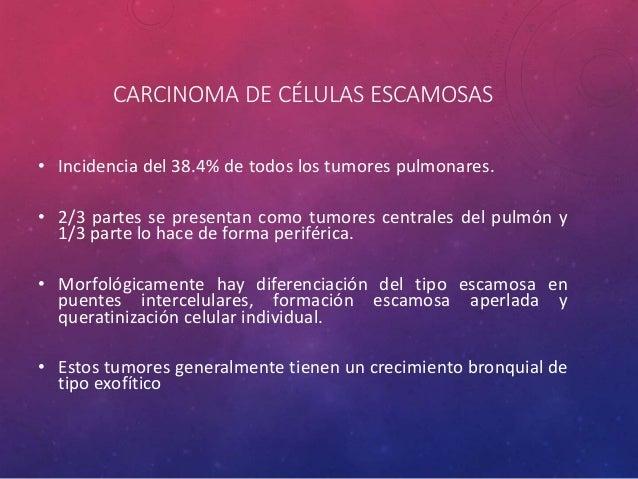 CARCINOMA DE CÉLULAS ESCAMOSAS • Este carcinoma se define como un tumor maligno epitelial mostrando queratinización y / o ...