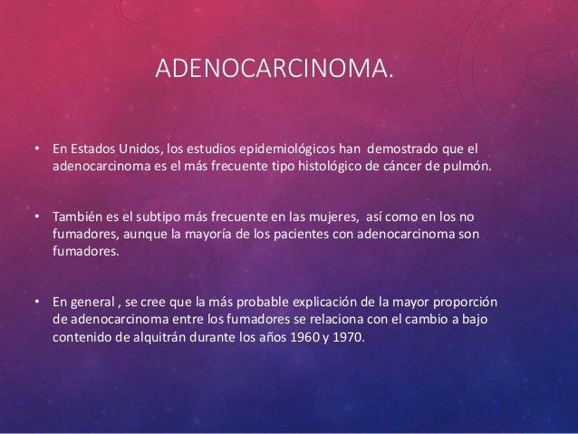 ADENOCARCINOMA BIEN DIFERENCIADO, TIPO BRONQUIOLOALVEOLAR MUCINOSO MULTICÉNTRICO