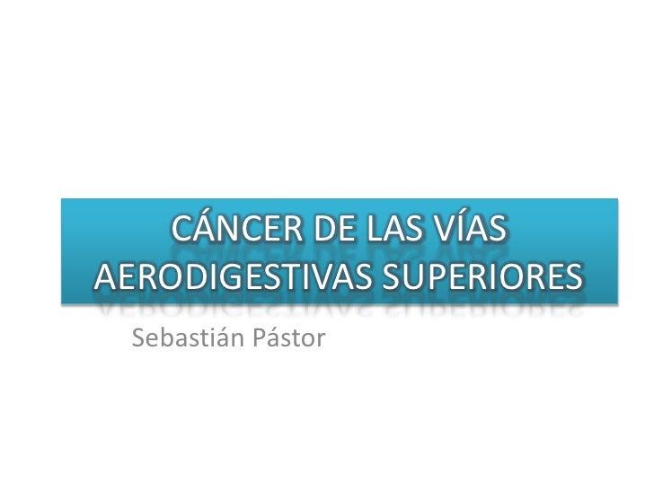 CÁNCER DE LAS VÍAS AERODIGESTIVAS SUPERIORES<br />Sebastián Pástor<br />