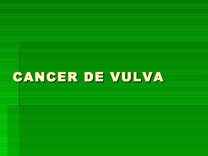 CANCER DE VULVA