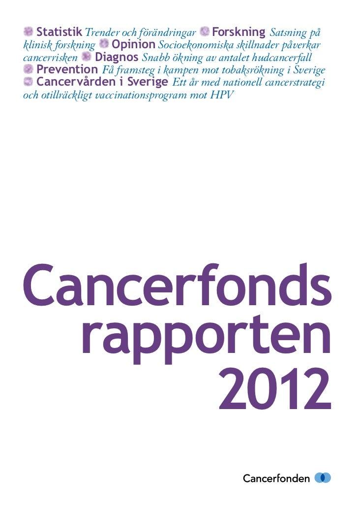 Satsning pa nationell cancerstrategi