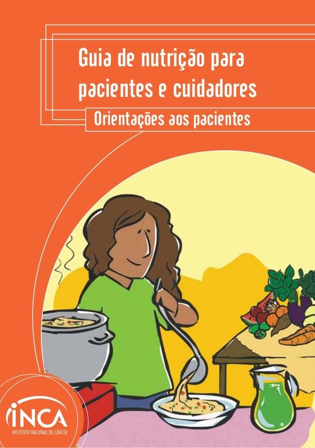 1Orientações aos pacientesGuia de nutrição parapacientes e cuidadores