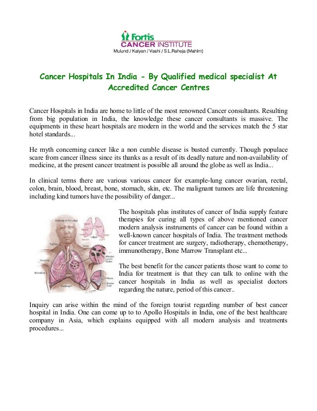Cancer hospitals in india by qualified medical specialist at accred…