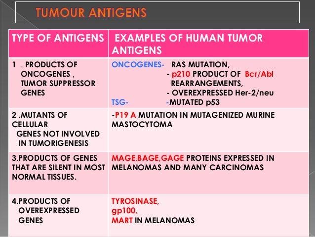 Immune Response To Tumours