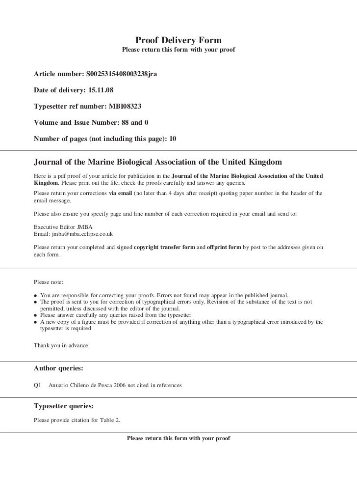 Proof Delivery Form                                       Please return this form with your proofArticle number: S00253154...
