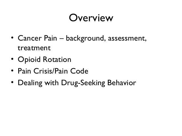 Cancer pain management Slide 3