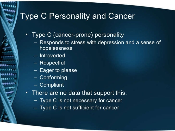 type c personality cancer
