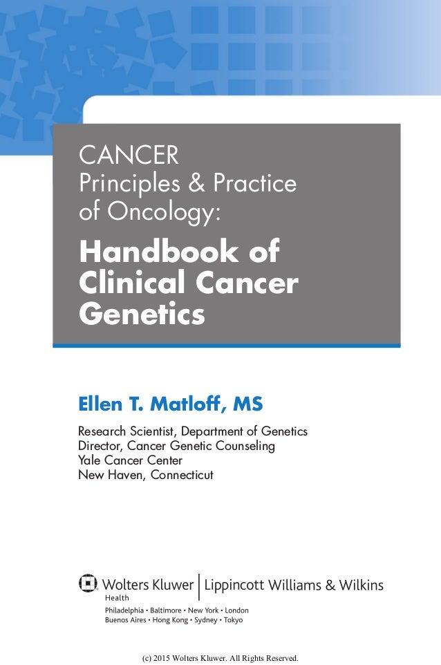 Cancer principles &
