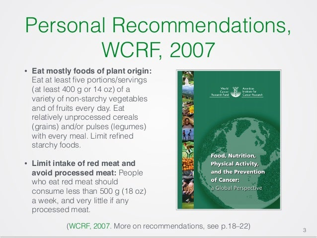 Wcrf red meat cancer study