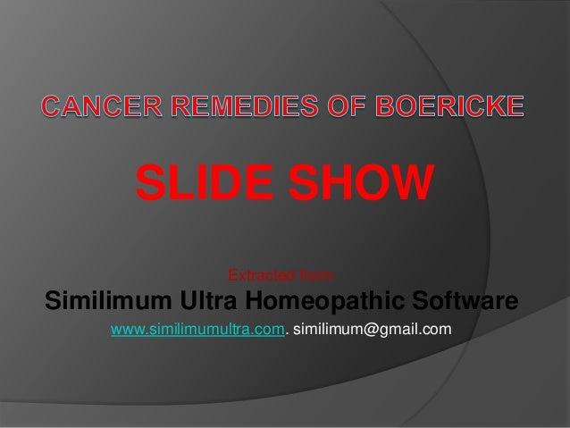 Cancer Remedies Of Boericke
