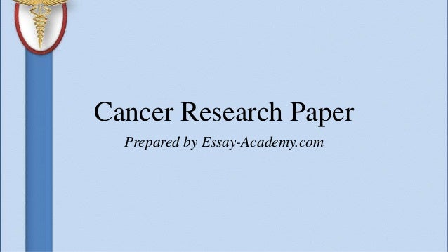 Cancer research paper