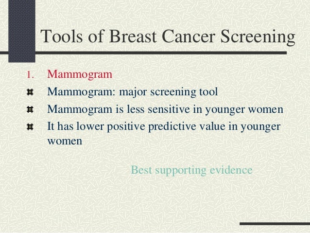 Screening tool for breast cancer