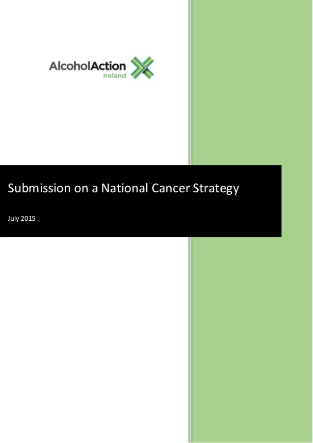 Submission on a National Cancer Strategy July 2015