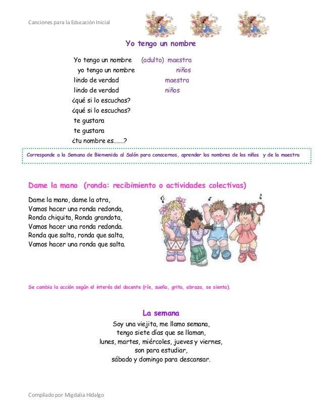 Canciones educacion inicial for Cancion para saludar al jardin de infantes
