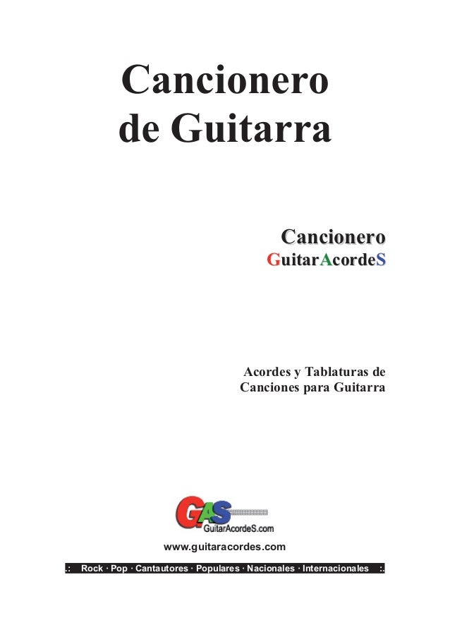 Cancionero Guitarra Poprock2011