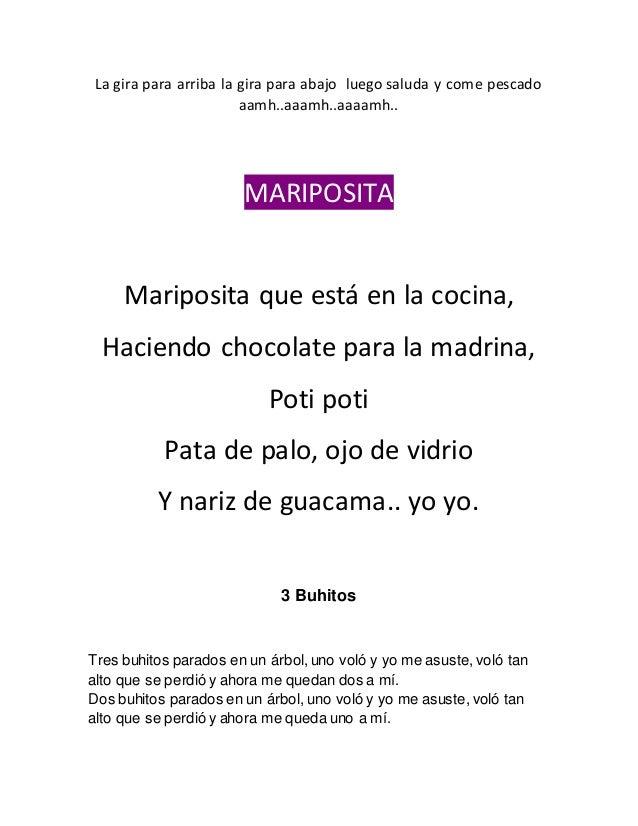 Canciones for Mariposita esta en la cocina