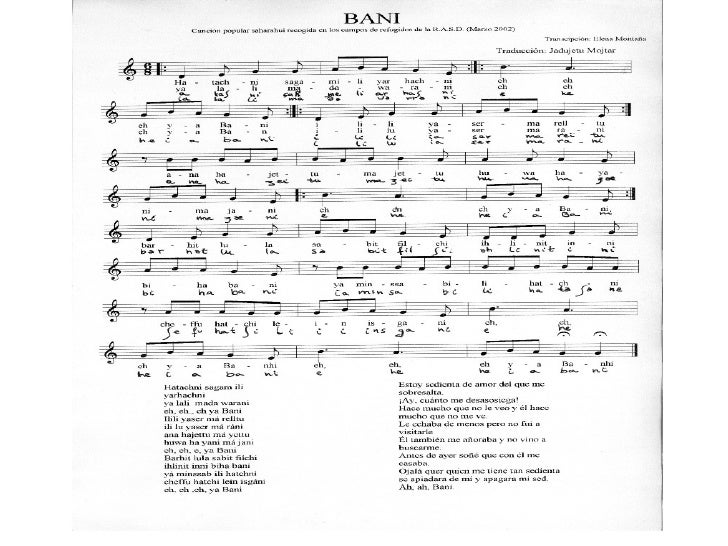Canciones Tradicionales Saharauis Slide 3