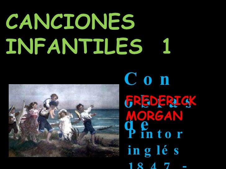 CANCIONES INFANTILES  1 Con obras de  FREDERICK MORGAN Pintor inglés  1847 - 1927