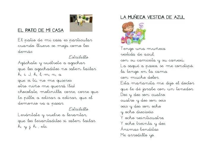 Canciones Infantiles Tradicionales Letra De Cole