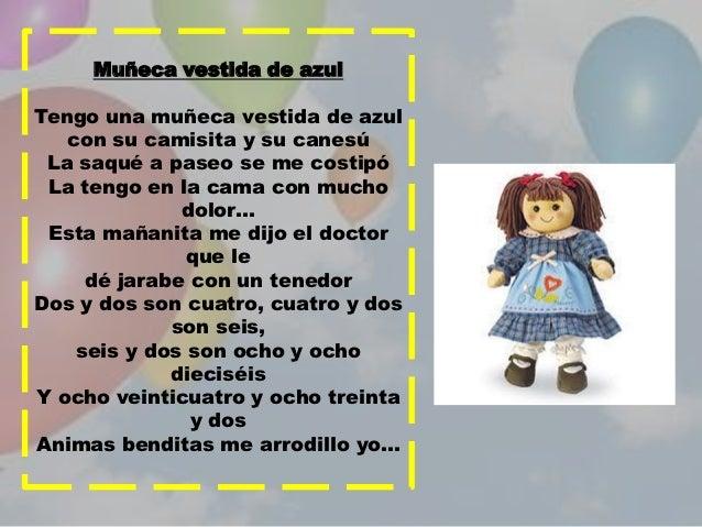Canciones infantiles la muрів±eca vestida de azul letra