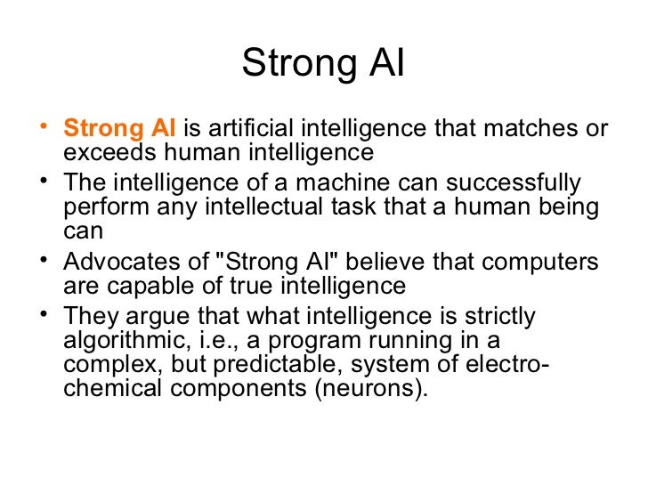 Strong ai thesis