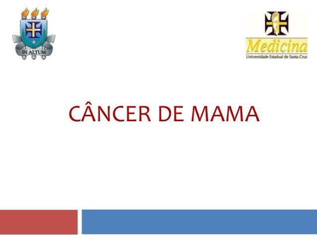 Cancêr de mama Slide 3